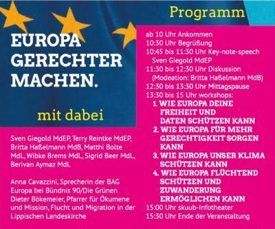 Programm zum Europakongress