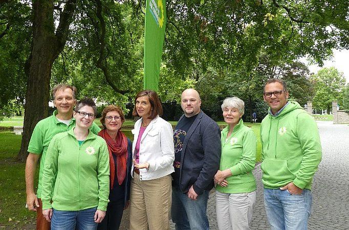 Grüne Hiddenhausen bei der Townhall in Bielefeld