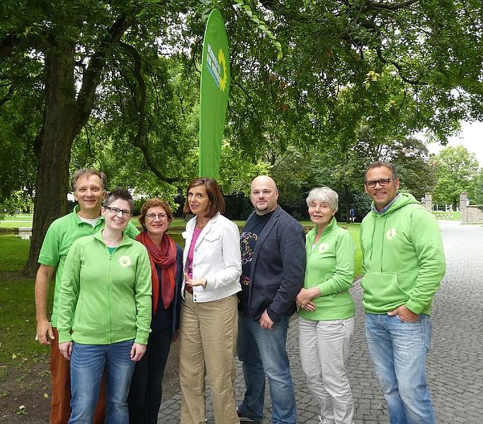 town hall Veranstaltung in Bielefeld mit der grünen Spitzenkandidatin Katrin Göring-Eckardt und Britta Haßelmann
