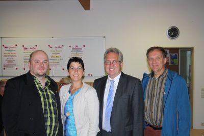 Maik Babenhauserheide, Barbara Steffens, Jürgen Müller und Bernhard Weil
