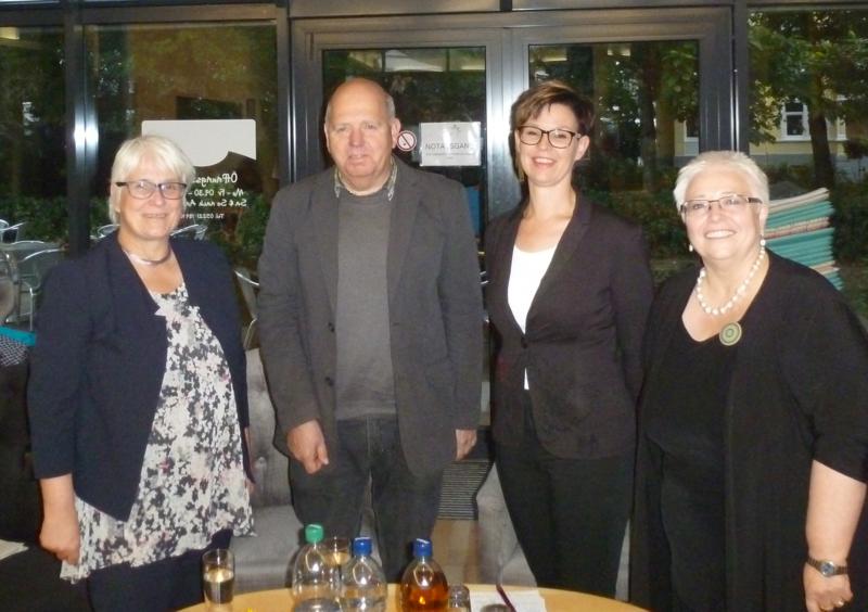 Birgit Fröse-Kindermann, Erhard Kirchhof, Nadin Quest und Sigrid Beer
