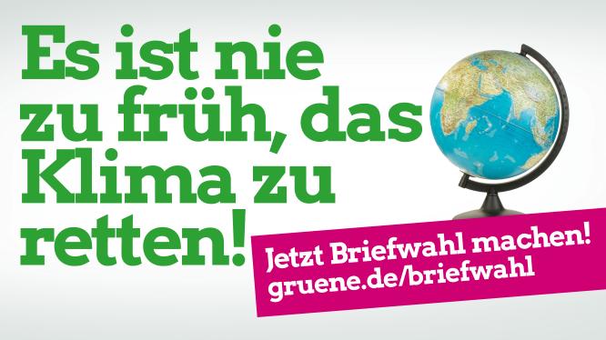Briefwahl jetzt – Es ist nie zu früh, das Klima zu retten!