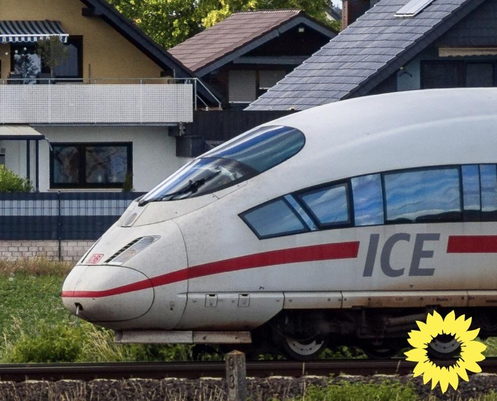 """GRÜNE streben Ratsbeschluss zur ICE-Trasse an/""""Ausbau an der bestehenden Bahntrasse prüfen"""""""