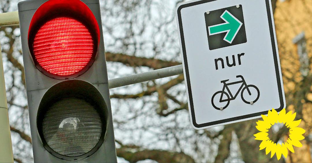 GRÜNE regen die Einführung von Radverkehrs-Grünpfeilen im Herforder Straßenverkehr an