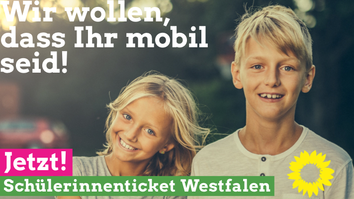 """GRÜNE wollen kostenlose Bustickets für alle Herforder Sekundarstufen-Schüler*innen/Beteiligung am Pilotprojekt """"Schülerticket Westfalen"""" geplant"""