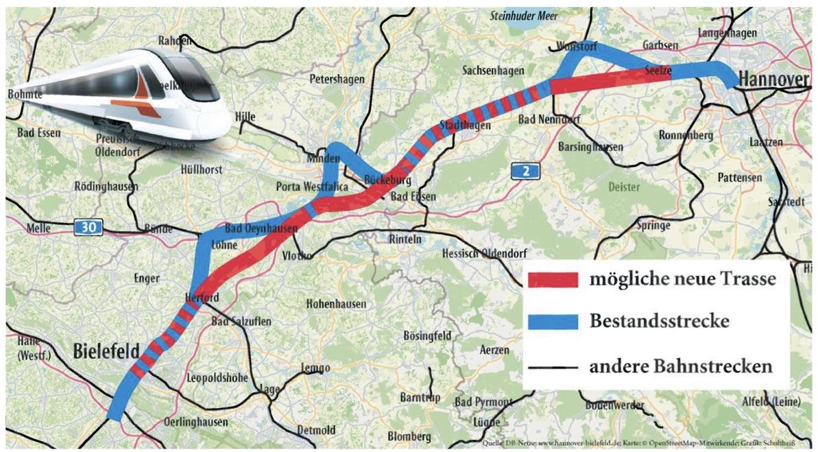 ICE-Trasse jetzt durch das nördliche Stadtgebiet?/GRÜNE bewerten neue Trassenüberlegungen kritisch